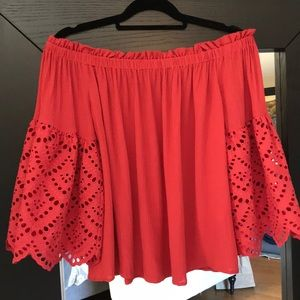 NWT! 1.State Gypsy Night Blouse in Spice